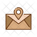 Postal Location Letter Mail Icon