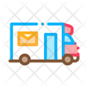 Mail Truck Postal Icon