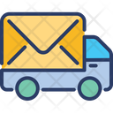 Postal Truck Delivery Package Icon