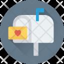 Postbox Letterbox Love Icon