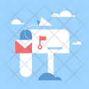 Postbox Letter Delivery Icon