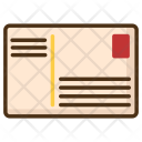 Postcard Letter Post Icon