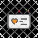 Postcard Heart Love Icon