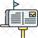Postcard Latter Box Card Icon