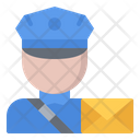Postman Letter Delivery Icon