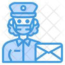 Postman Mail Occupation Icon