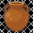 Pot Vase Masonry Art Icon