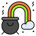 Pot Rainbow Clover Icon