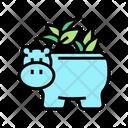 Pot Hippopotamus Form Icon