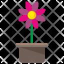 Open Pot Plant Icon