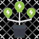 Lightbulb Pot Ecology Icon