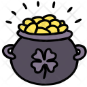 Pot Gold Shamrock Icon