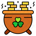 Pot Of Gold Coins Pot Gold Icon
