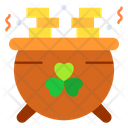 Pot Of Gold Coins Icon