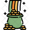 Pot Rainbow Saint Patricks Day Icon