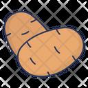 Potato Food Vegetarian Icon