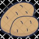 Potato Vegetarian Healthy Food Icon