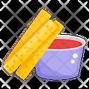 French Fries Potato Fries Fries Box Icon
