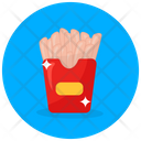 Potato Fries French Fries Fries Box Icon