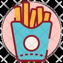 French Fries Potato Sticks Potato Chips Icon