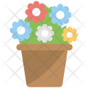 Potted Plant Flowering Icon