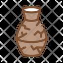 Broken Clay Vase Icon