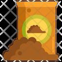 Potting Soil Fertilizer Bag Icon