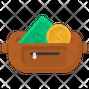 Cash Wallet Purse Pouch Icon