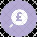 Pound Search Glass Icon
