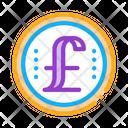 Pound Coin England Icon