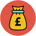 Pound Money Pouch Icon