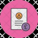 Pound Banking Document Icon