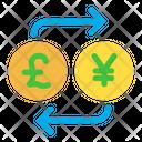 Pound And Yen Exchange Icon