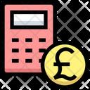 Pound Badget Calculator Coin Icon