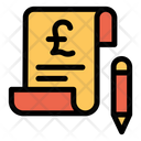 Bill Payment Pound Icon
