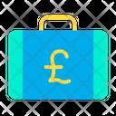 Pound Briefcase Pound Suitcase Money Briefcase Icon
