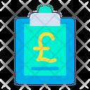 Pound Clipboard Icon