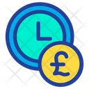 Clock Time Pound Icon