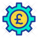 Cog Wheel Pound Wheel Money Optimization Icon