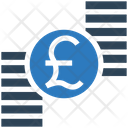 Pound Coins Stack Pound Icon