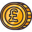 Pound Currency Gold Cash Icon