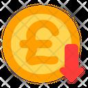 Pound Decrease Pound Decrease Icon