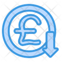 Pound Decrease Icon