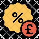 Pound Discount Icon