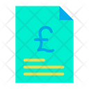 Document Business Document Pound Agreement Icon