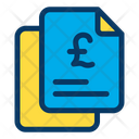 Pound Finance Document Papers Icon