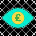 Eye Pound Money In Eyes Icon