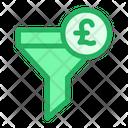 Funnel Pound Filter Icon