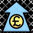 Pound Increase Pound Up Arrow Increase Arrow Icon