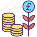 Mmoney Plant Pound Investment Growth Icon